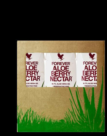 pack 3 boissons aloe vera berry nectar mini forever living