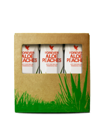 pack 3 boissons aloe vera peach mini forever living
