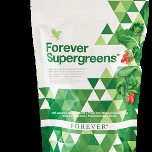 sachet complement alimentaire supergreens forever vitamines vert